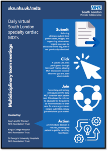 Promotional poster for south London MDTs